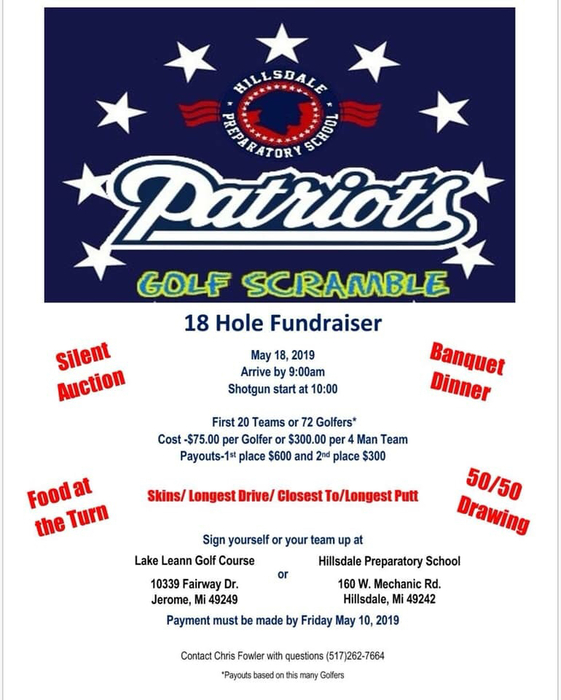 Come on now all you golfers let's fill all the team spots in support of our great school!
